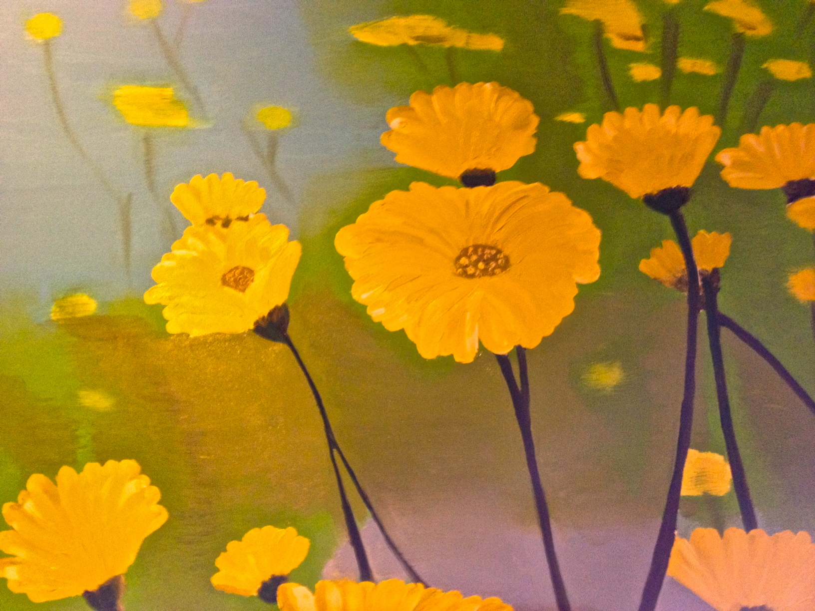Three new paintings for may theuncertainsmile yellow flowers 1 mightylinksfo